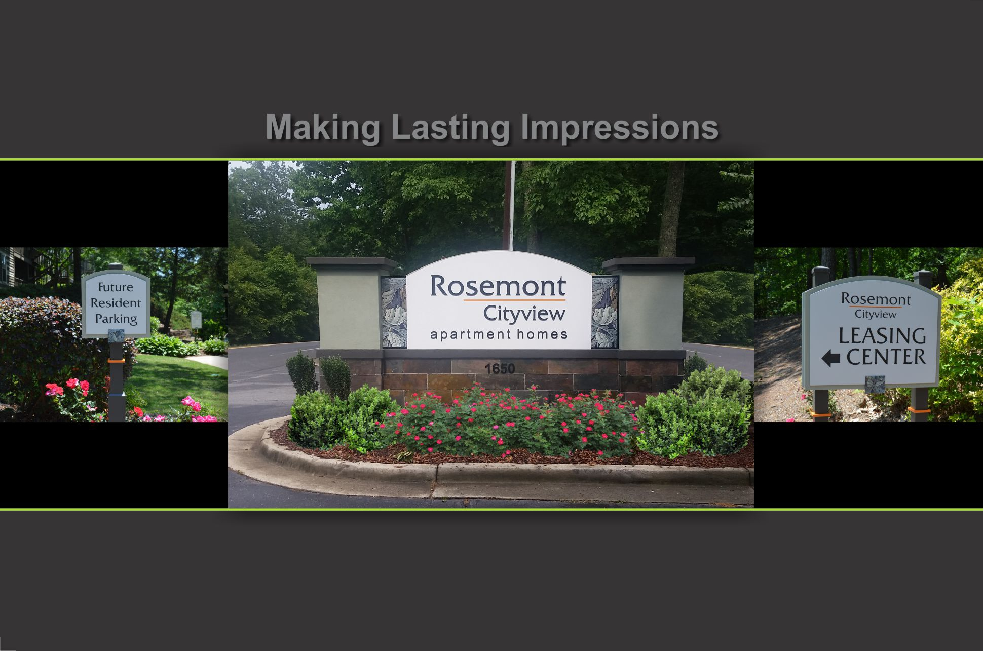 Rosemont cityview apartments ID sign
